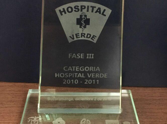 Reconocimiento en la Categoría Hospital Verde Fase III 2 de Diciembre 2010
